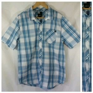 O'Neill M Blue Plaid Short Slv Button-Down Shirt